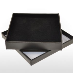 Black Cardboard Pendant or Earring Box