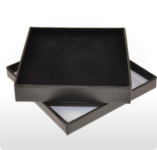 Black Cardboard Pendant or Earring Box