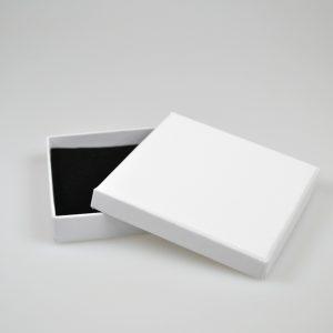 White Cardboard Pendant or Earring Box