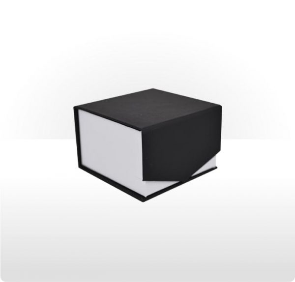 Wrap around cardboard ring, earring or pendant box