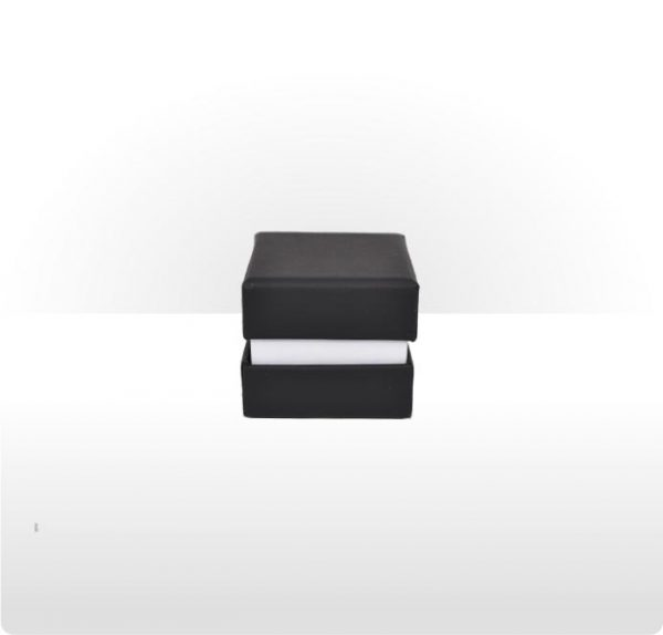 Three piece cardboard ring or earring box
