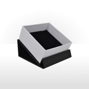 Double top flap cardboard pendant or earring box
