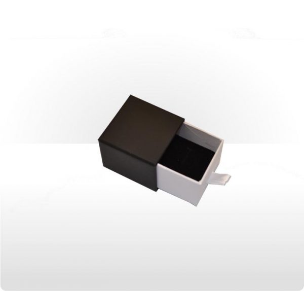 Two piece cardboard drawer ring or earring box