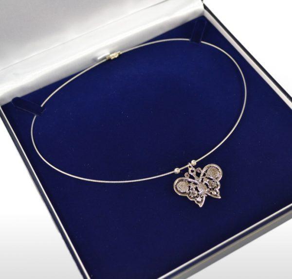 Large Blue Necklace Box