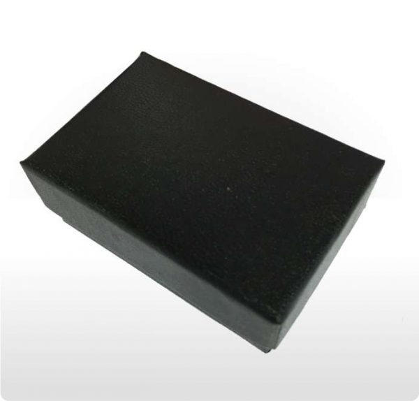 Black Paper Covered Cotton Filled Gift Box