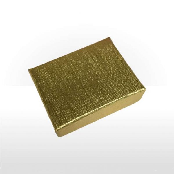 Gold Foil Covered Cotton Filled Box
