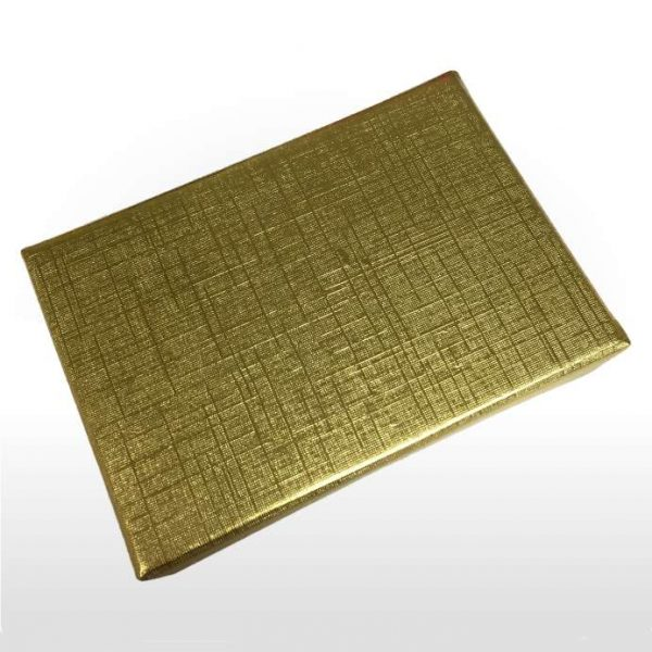Gold Foil Covered Cotton Filled Gift Box