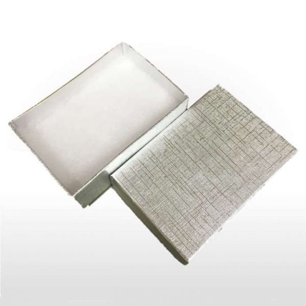 Silver Foil Covered Cotton Filled Gift Box