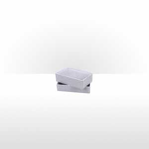 White Paper Covered Cotton Filled Box