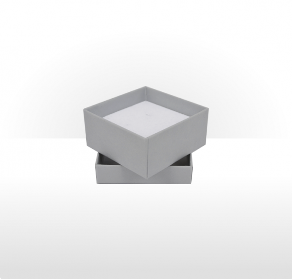 Small Silver Grey Gift Box with Double Side Foam Insert