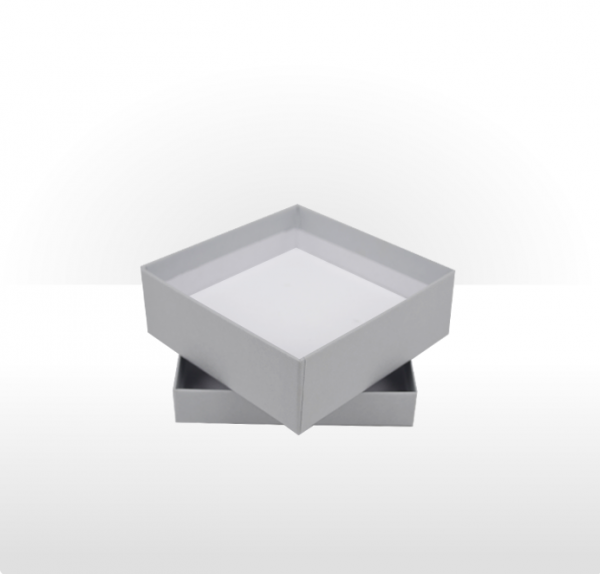 Medium Silver Grey Gift Box with Double Side Foam Insert