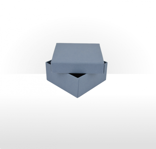 Small Steel Blue Gift Box with Double Side Foam Insert