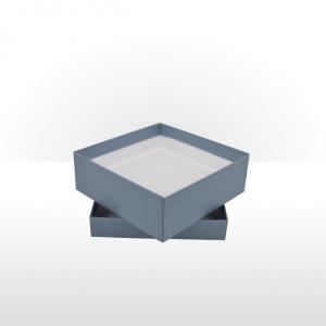 Medium Steel Blue Gift Box with Double Side Foam Insert