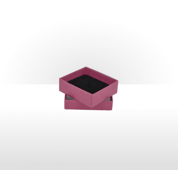 Small Raspberry Postal Gift Box with Double Side Foam Insert