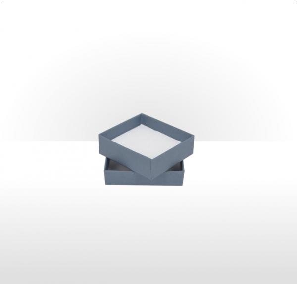 Small Steel Blue Postal Gift Box with Double Side Foam Insert