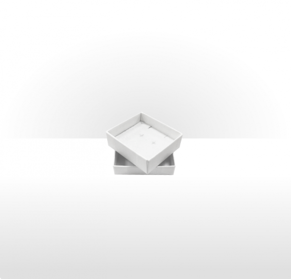 Small White Postal Gift Box with Double Side Foam Insert