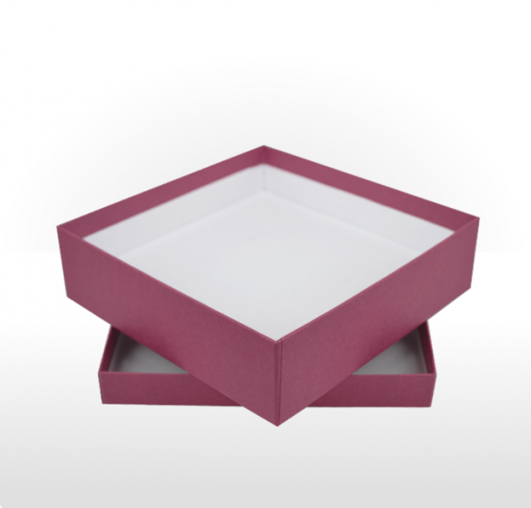 Large Raspberry Gift Box with Double Side Foam Insert