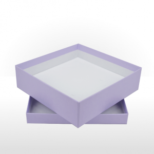 Large Lilac Gift Box with Double Side Foam Insert