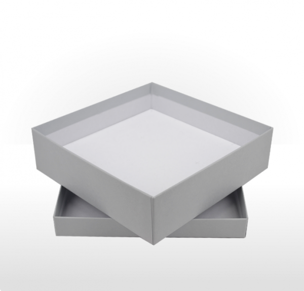 Large Silver Grey Gift Box with Double Side Foam Insert