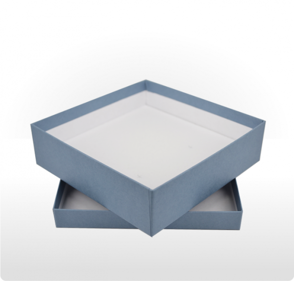 Large Steel Blue Gift Box with Double Side Foam Insert