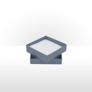 Medium Steel Blue Postal Gift Box with Double Side Foam Insert
