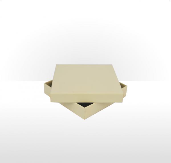 Large Buttermilk Postal Gift Box with Black Flocked Foam