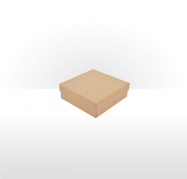 Small Kraft Paper Covered Gift Box with Polywadding Insert 70 x 70 x 33mm