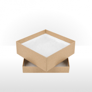 Medium Kraft Paper Covered Gift Box with Polywadding Insert 118 x 118 x 42mm