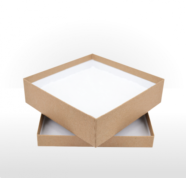 Large Kraft Paper Covered Gift Box with Polywadding Insert 165 x 165 x 48mm