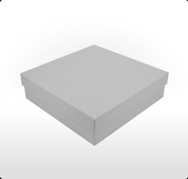 Large silver grey gift box
