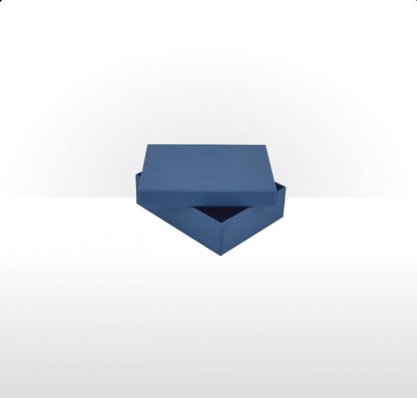 Sapphire Blue Fine Linen Paper Covered Pendant Box