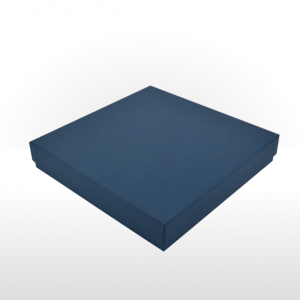 Sapphire Blue Linen Paper Covered Jewellery Set Box