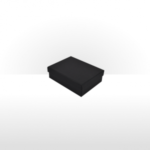Black Fine Linen Paper Covered Pendant Box