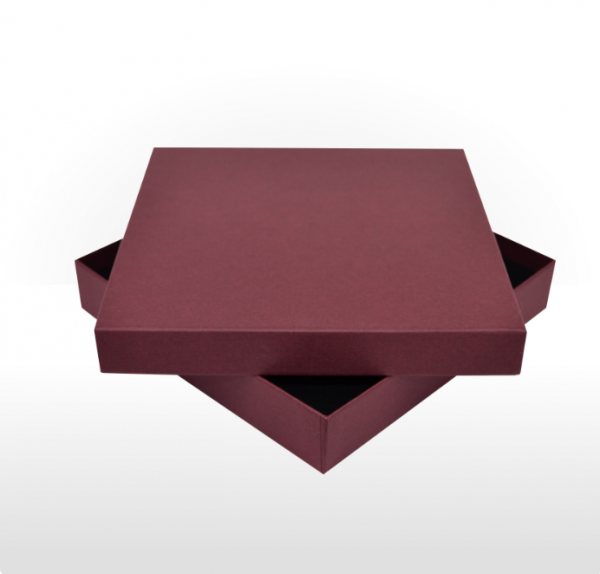 Maroon Fine Linen Paper Covered Jewellery Set Box