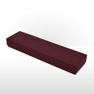 Maroon Fine Linen Paper Covered Pen or Bracelet Box