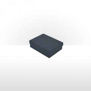 Prussian Blue Fine Linen Paper Covered Pendant Box