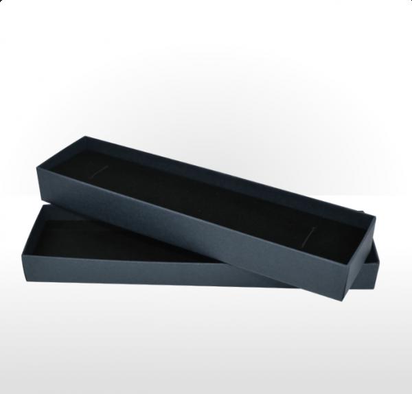 Prussian Blue Linen Paper Covered Pen or Bracelet Box